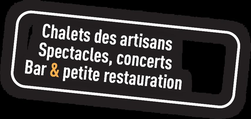 Le marché de Noël à L'Isle-sur-La-Sorgue, chalets des artisans, spectacles, concerts, bar, petite restauration